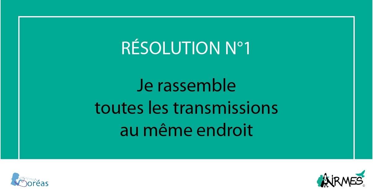 Résolution 1 : transmissions